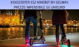 Monopattino elettrico KickScooter ES2 Ninebot by Segway ad un prezzo imperdibile su Unieuro!