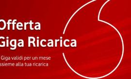 Vodafone introduce nuovi tagli di ricarica: ecco Giga Ricarica 20 e tutte le altre utilizzabili
